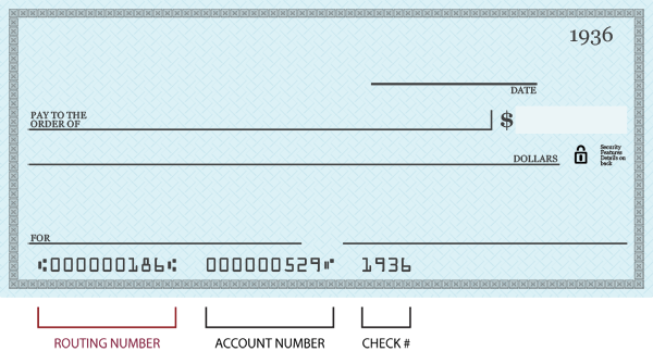 Chase Routing And Account Number
