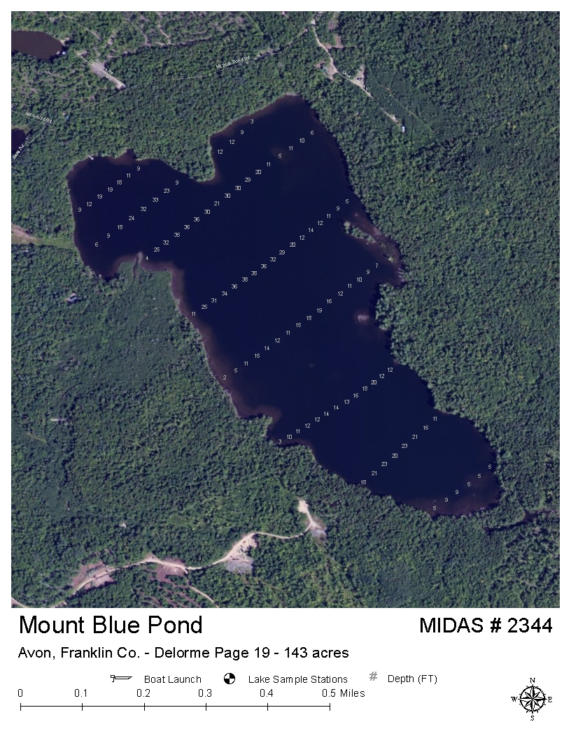 Lakes Of Maine Lake Overview Mount Blue Pond Avon