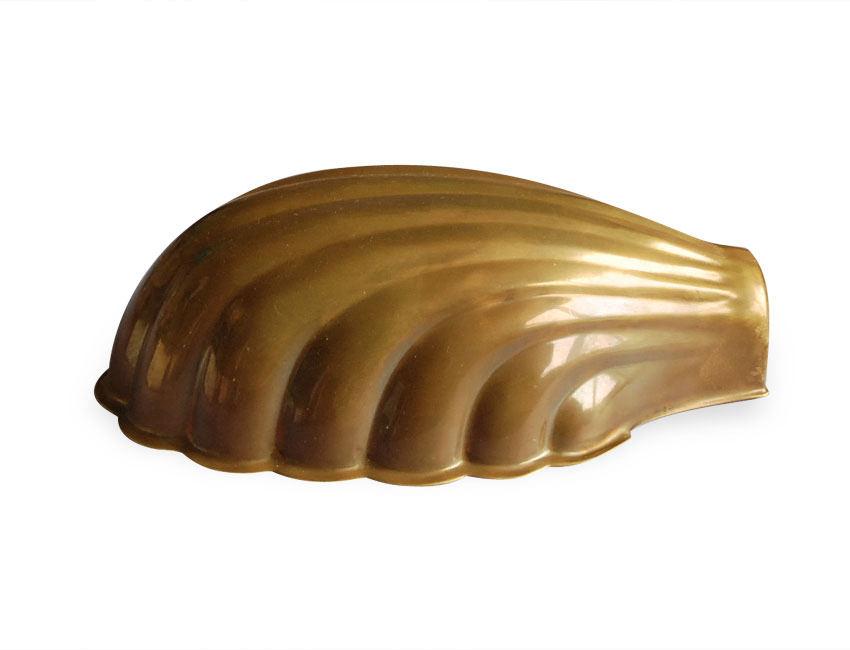 Aged Brass Clam Shell Light Shade Antique Footlight
