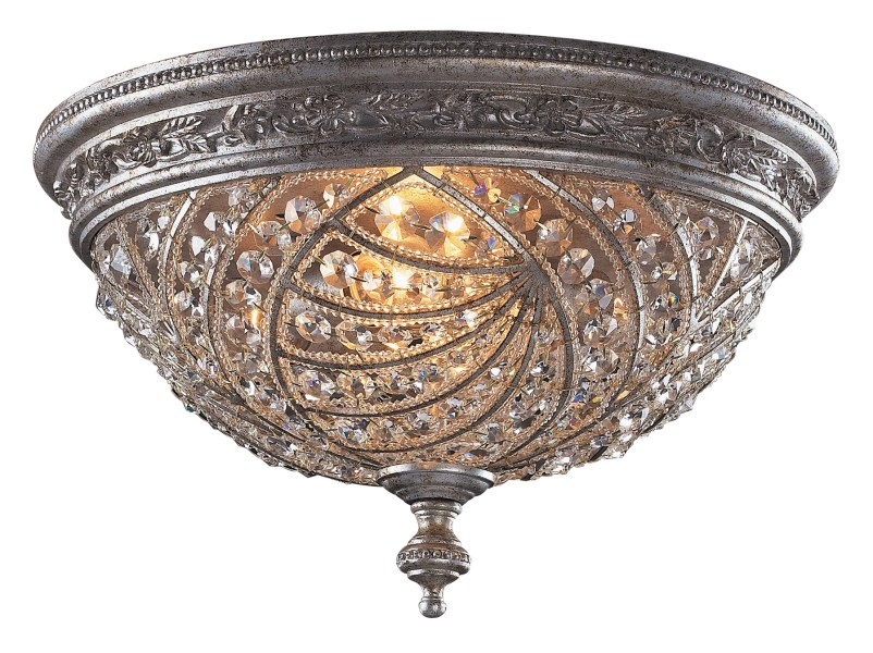 Elk Lighting 6232 4 Crystal Renaissance Flush Mount Ceiling Fixture