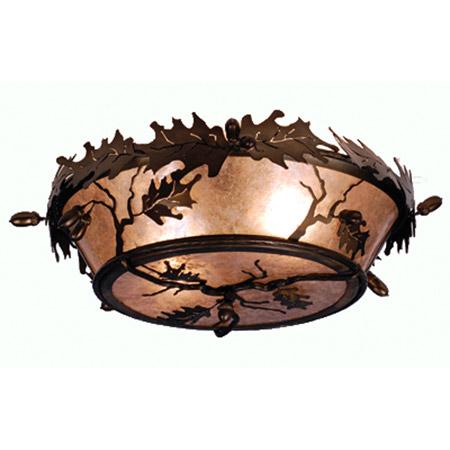 Meyda 82070 Acorn Amp Oak Leaf Flush Mount Ceiling Fixture