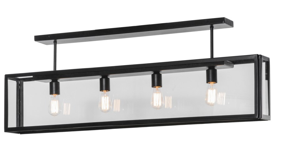 Meyda 150011 Affinity Linear Oblong Semi Flush Mount Ceiling Fixture