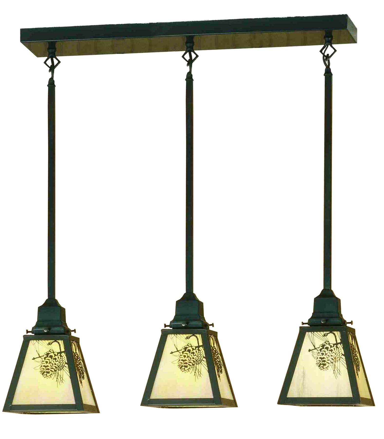 Three Light Pendant Fixture
