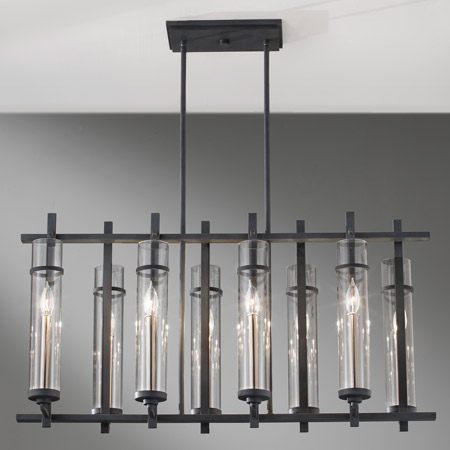 Murray Feiss F2630 8af Bs Ethan Eight Light Linear Chandelier