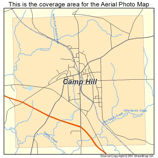 Map Spring Hill Camp Located Where