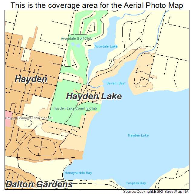 Hayden Lake Idaho Map