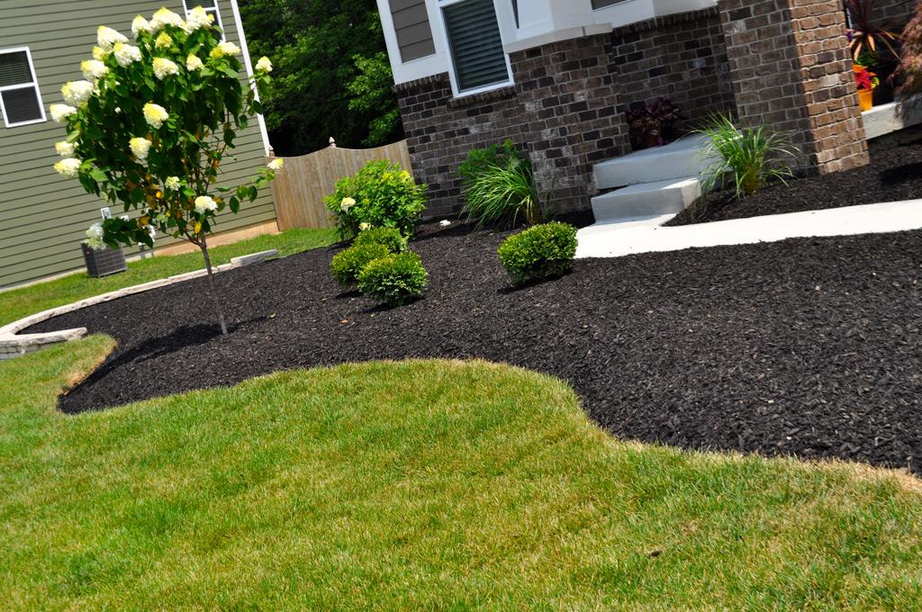 Mulch Edging Black Stone Landscape