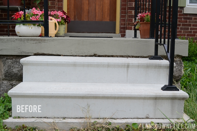 Curb Appeal Painting Concrete Porch Stairs Lansdowne Life   Painting Outside Concrete Steps