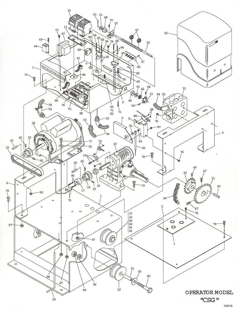 Powermaster csg gate opener parts csg operator replacement part