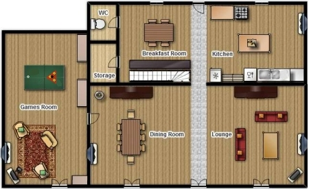 La Pagerie   floor plans of the accommodation Ground floor plan
