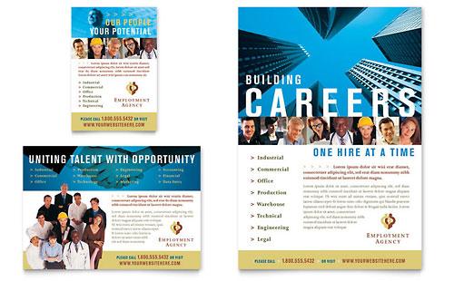 Employment Agency Amp Jobs Fair Flyer Amp Ad Template Word