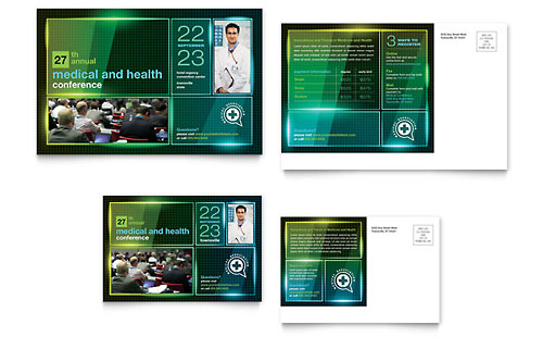 Medical Conference Brochure Template Word Amp Publisher