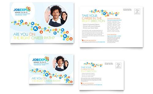 Job Expo Amp Career Fair Tri Fold Brochure Template Word
