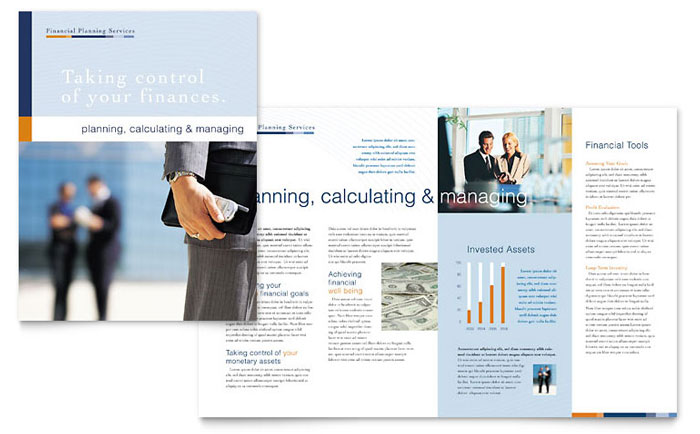 Financial Planning Amp Consulting Brochure Template Word