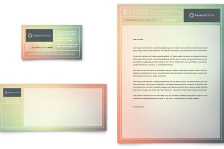 Medical Clinic Business Card   Letterhead Template   Word   Publisher