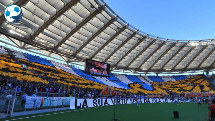 Coreografia curva Nord Juventus Lazio Supercoppa italiana 2015