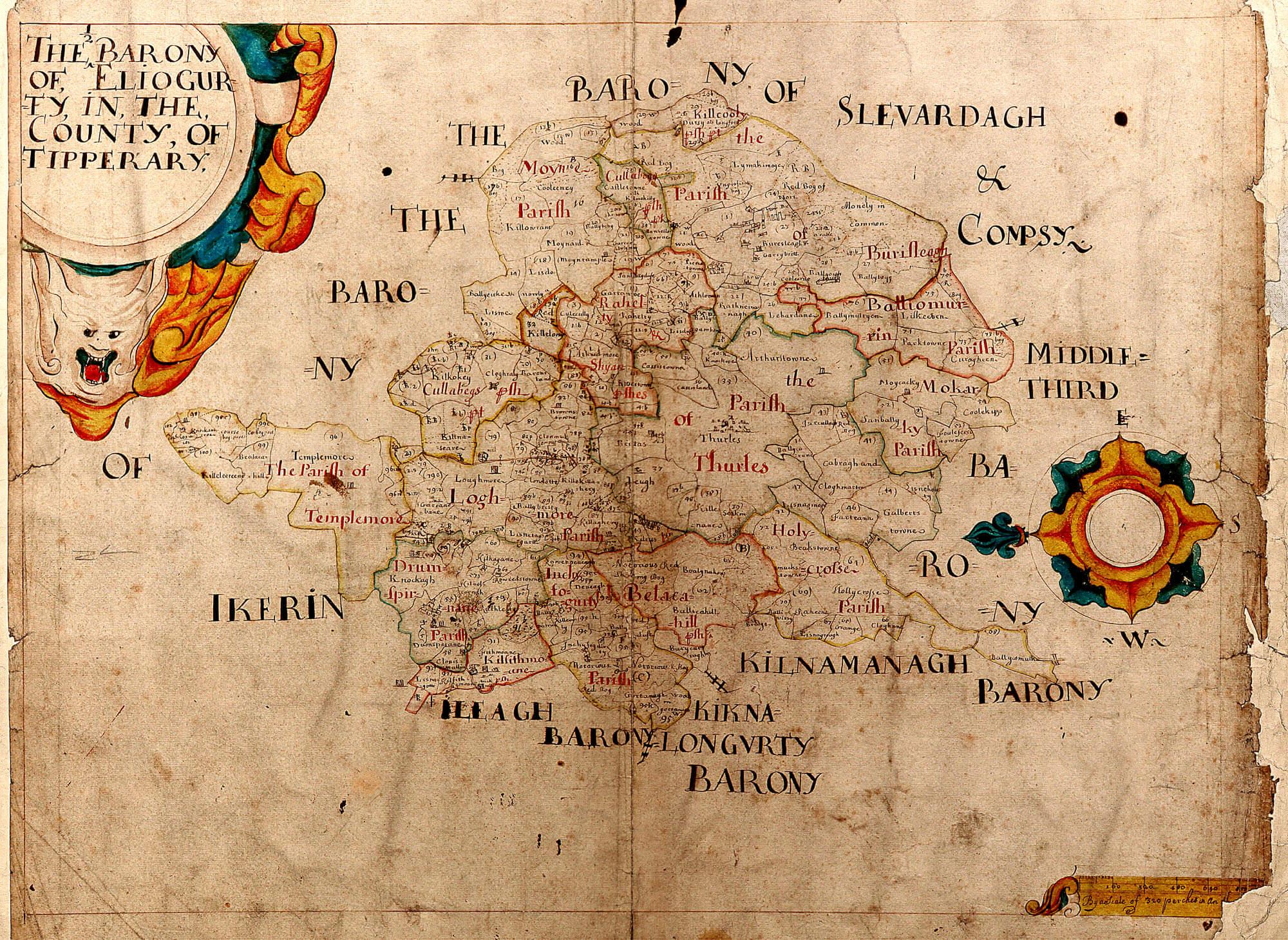 Quiz Game Vector Maps of Ireland