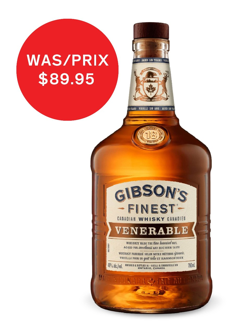 Gibson S Finest Venerable 18 Year Old Whisky Lcbo