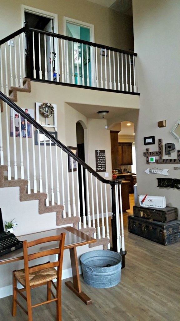 Staircase Refinishing The Easy Way And For Under 50 Leap Of | Cost To Refinish Stair Railing | Hardwood Stairs | Gel Stain | Wood | Sanding | Stair Case