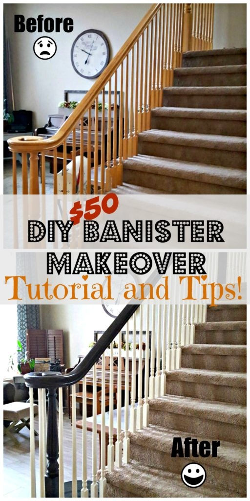 Staircase Refinishing The Easy Way And For Under 50 Leap Of   Cost Of New Banister And Spindles   Chris Loves Julia   Stair Parts   Stair Treads   Paint   Iron Stair
