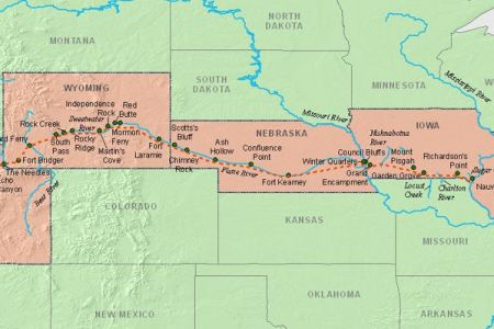 oregon trail map with rivers » Full HD MAPS Locations - Another ...