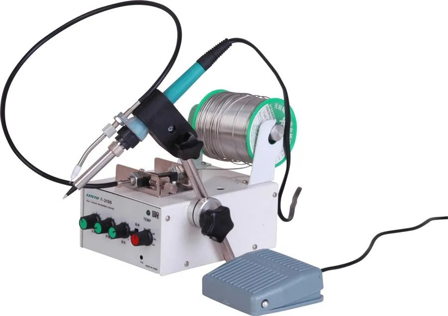 Auto-feed soldering station