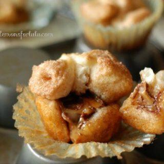 Mini Monkey Bread Stuffed with Caramel Apple Milky Ways! www.lemonsforlulu.com