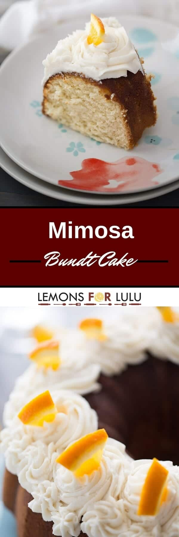 Love mimosas? Then this cake is for you! This cake is made with both champagne and orange juice and topped with a creamy champagne buttercream!