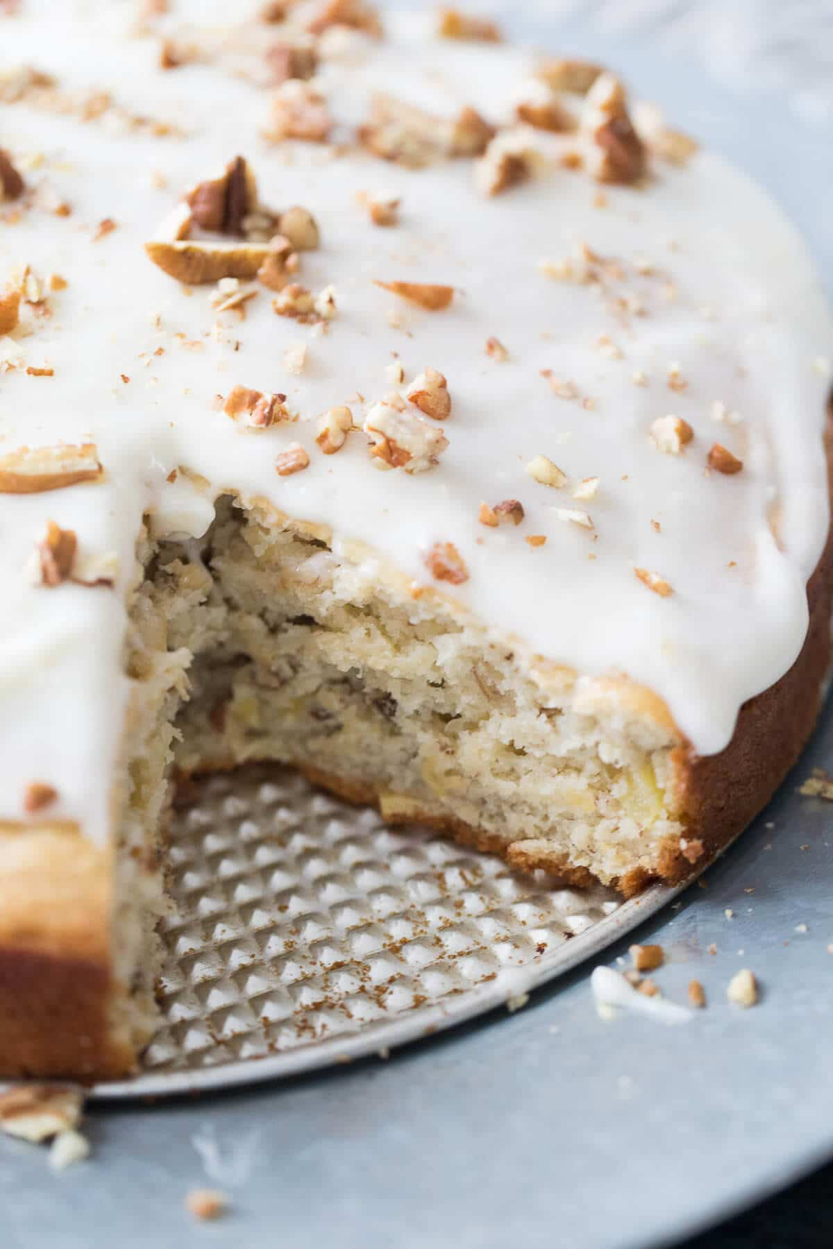This hummingbird cake recipe is simple to prepare, it's tender and sweet and makes the best coffee cake.