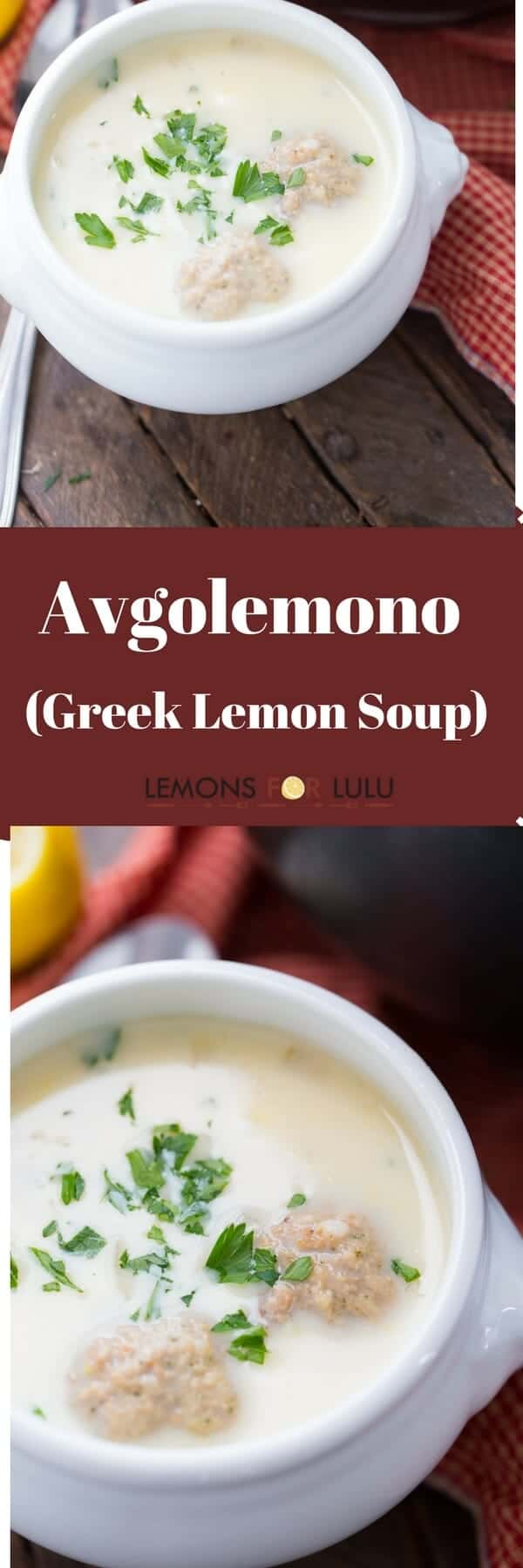 Avgolemono is pure comfort food. This Greek lemon soup recipe requires only a handful of ingredients yet is such a satisfying and comforting meal!
