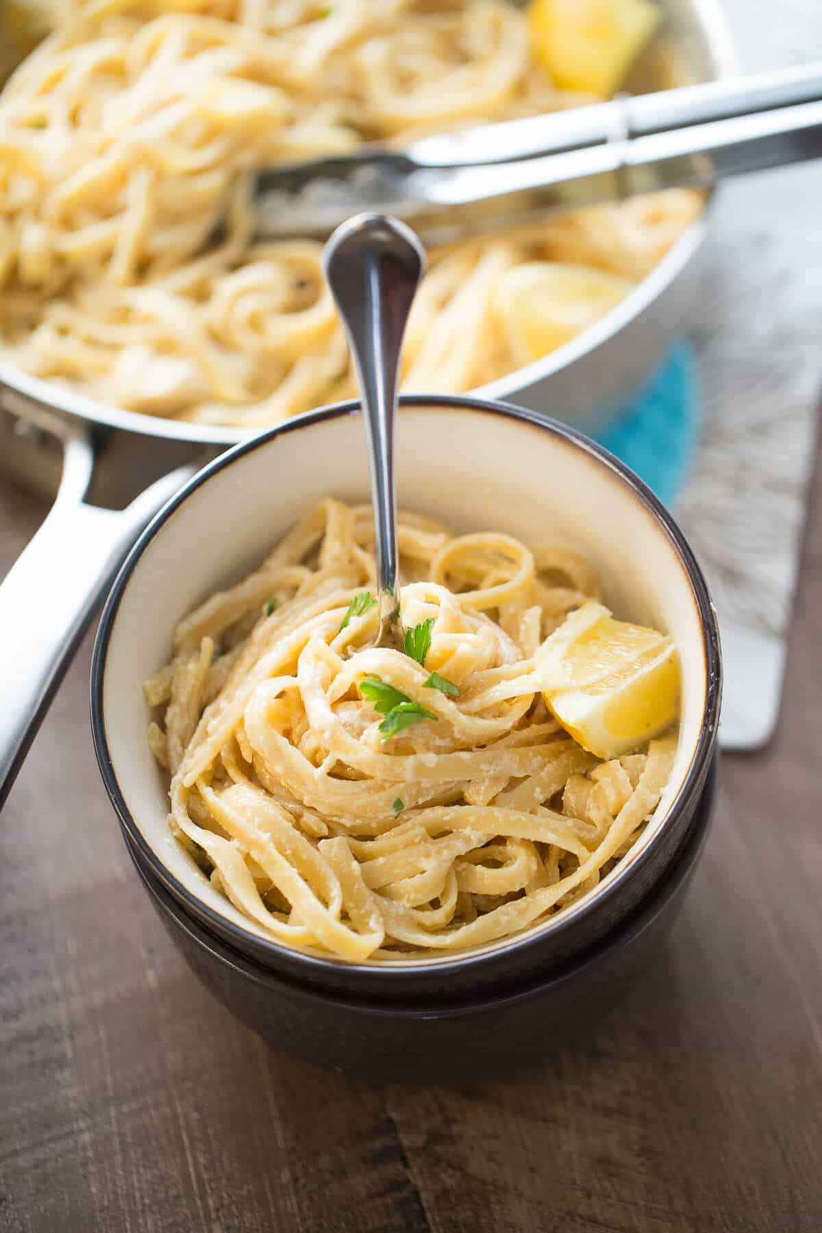 An easy Fettuccine Alfredo recipe that is perfect for those days you want a pick me up! The sauce is so light and simple, you are going to love it!