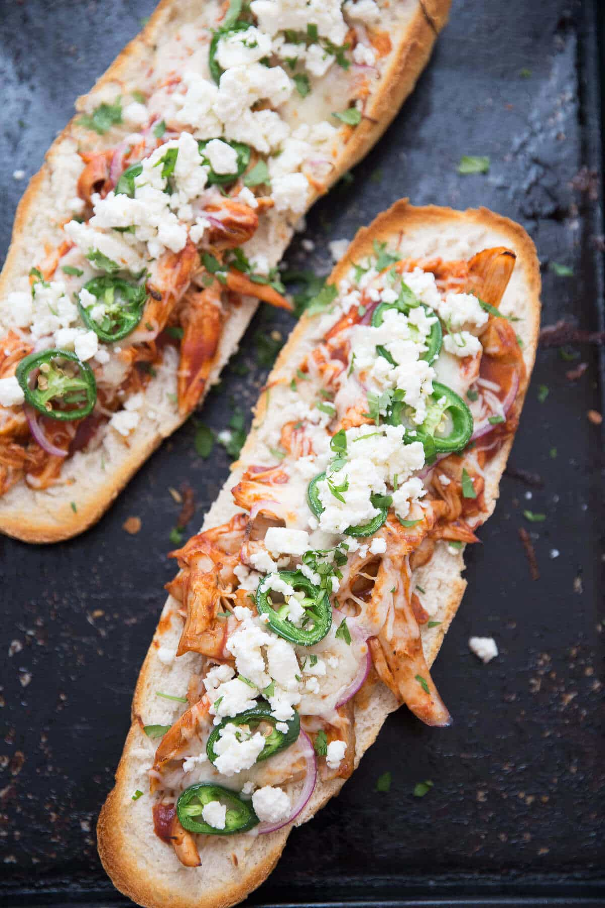 Friends and family are going to love this BBQ Chicken Pizza Sub! This fun recipe is perfect for game-day or Friday night pizza night!