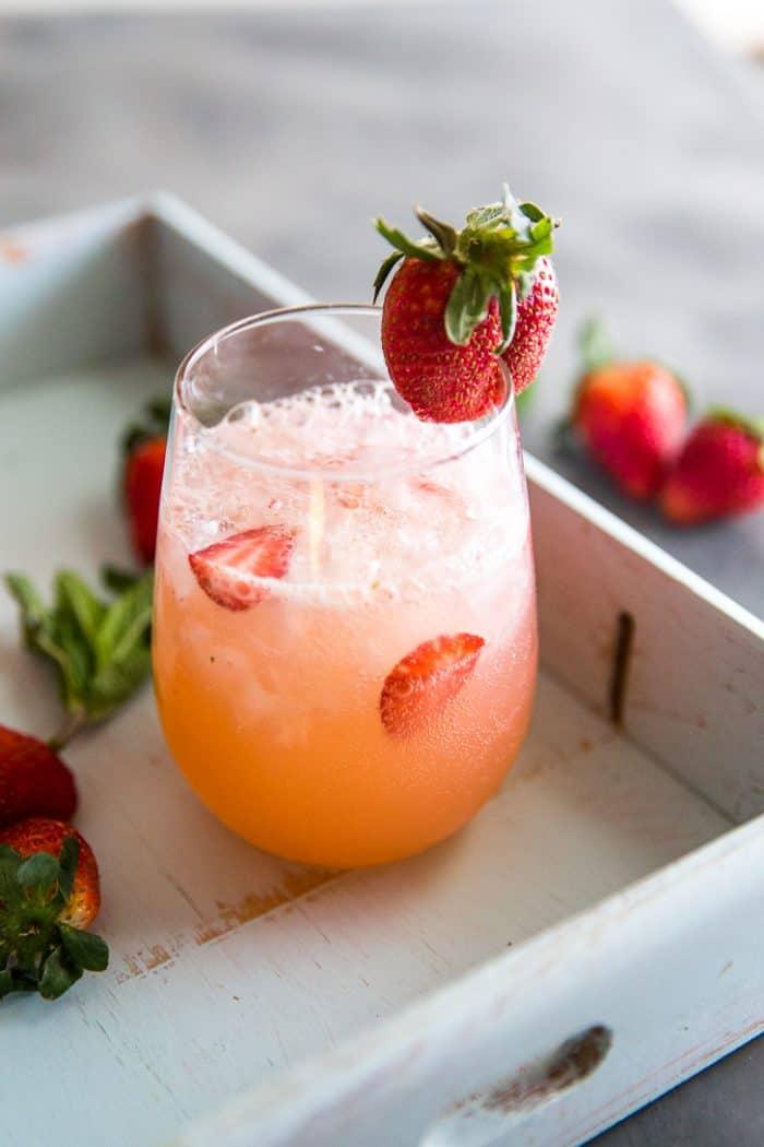 grapefruit cocktail close up