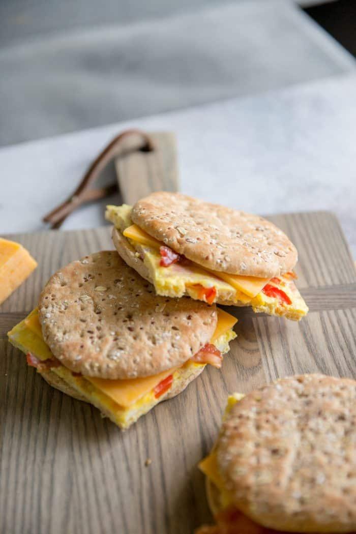 Denver omelet in a sandwich