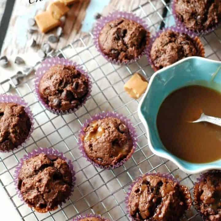 Caramel Macchiato Chocolate Muffins