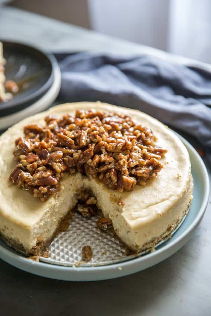 pecan pie cheesecake facing front