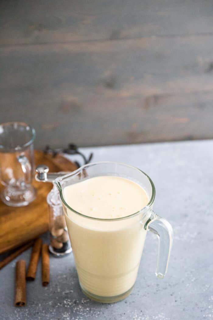 eggnog recipe pitcher full