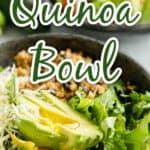 quinoa bowl up close