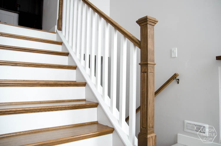 How To Install A Wooden Handrail On Split Level Stairs Lemon Thistle | Iron Railing With Wood Handrail | Stair Systems | Stair Parts | Metal | Stair | Staircase