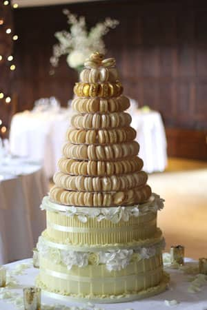 Wedding Cakes in London   Woking  Surrey from Le Papillon Patisserie French Macaroon Tower