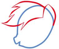 как рисовать пони радугу шаг 3