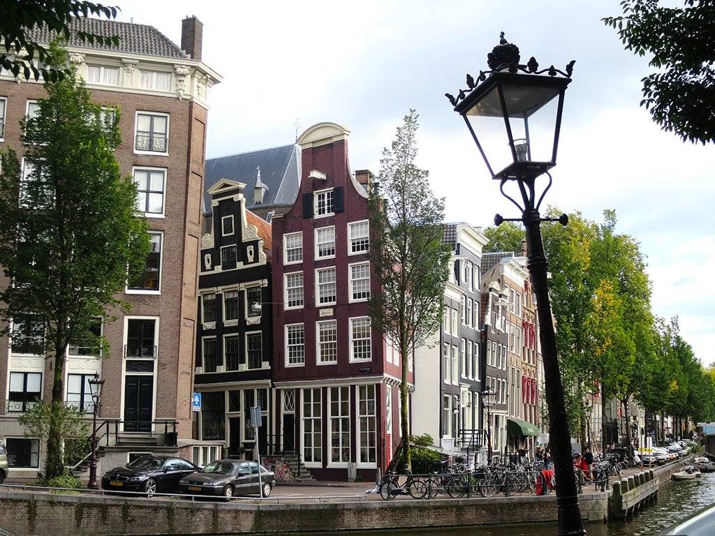 Crooked Amsterdam Canal Houses