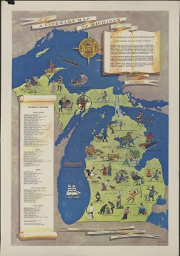Clark Library Literary Maps   Michigan   Online Exhibits   MLibrary A Literary Map of Michigan