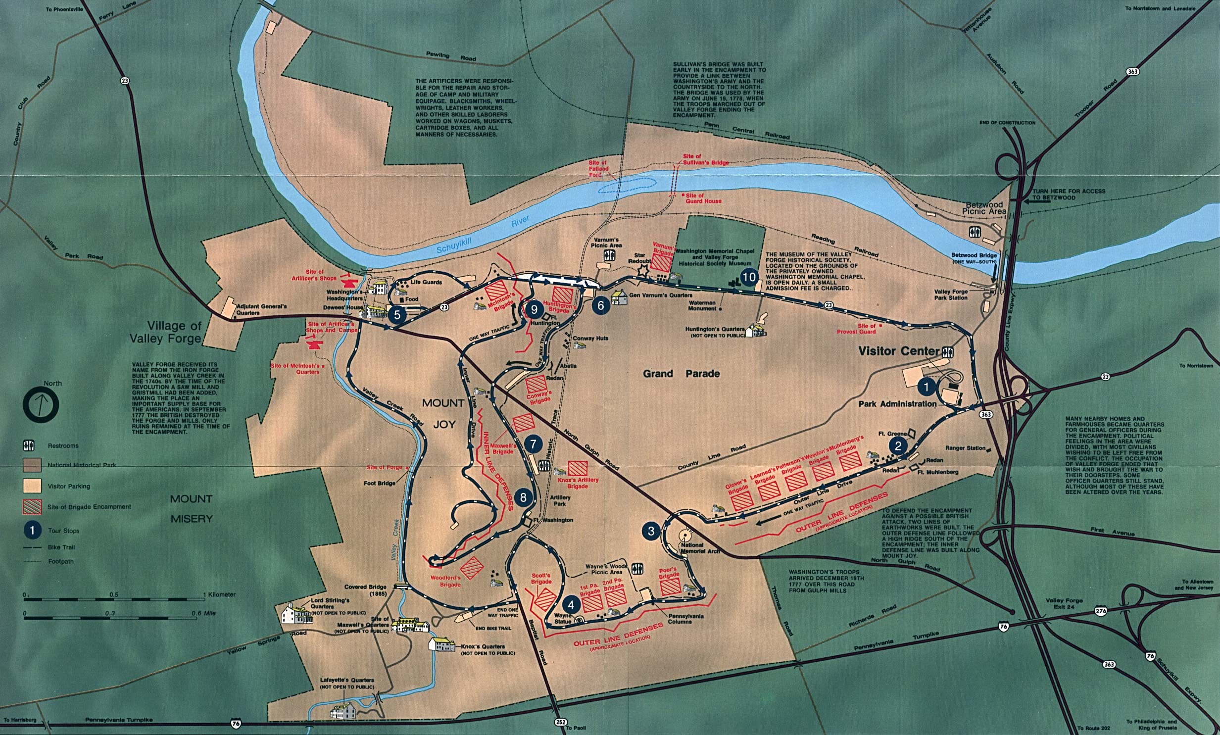Valley Forge Visitor Map