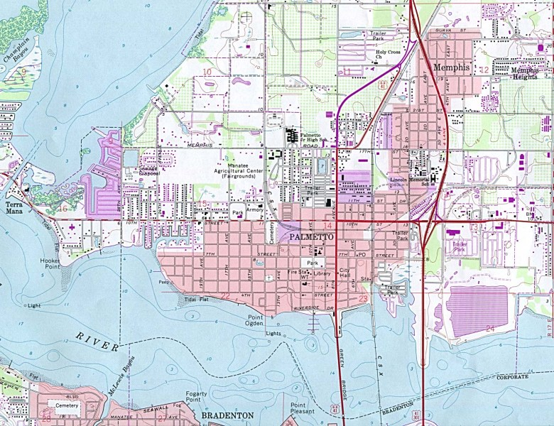 Map of Florida  A Source for All Kinds of Maps of Florida     Palmetto  click