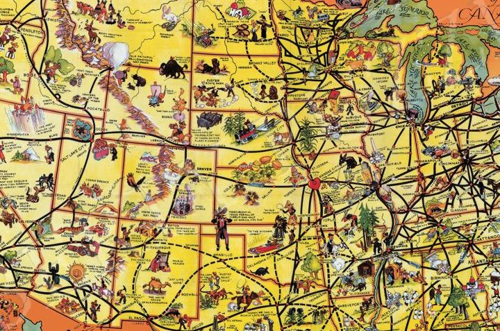 HD Decor Images » The Greyhound Lines Map of the United States   Wooden Jigsaw Puzzle     The Greyhound Lines Map of the United States   Liberty Puzzles   13