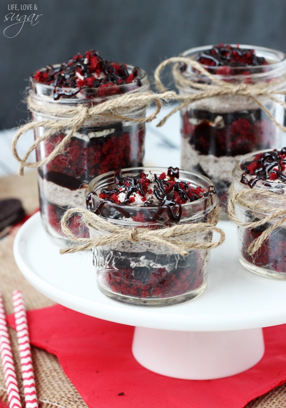 Red Velvet Oreo Trifles In A Jar Life Love And Sugar