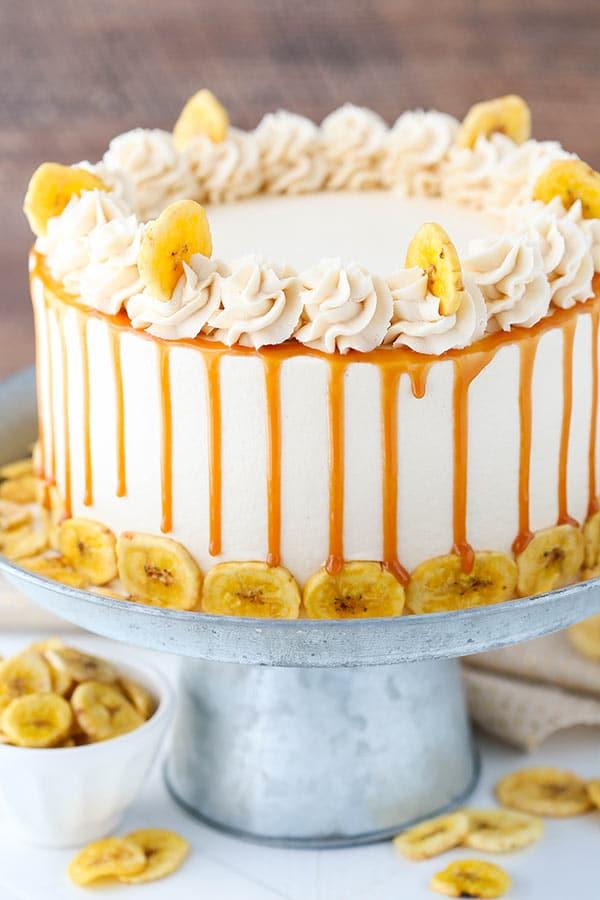 Caramel Banana Layer Cake Life Love And Sugar