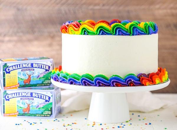 Rainbow Swirl Cake Easy Amp Gorgeous Rainbow Birthday Cake