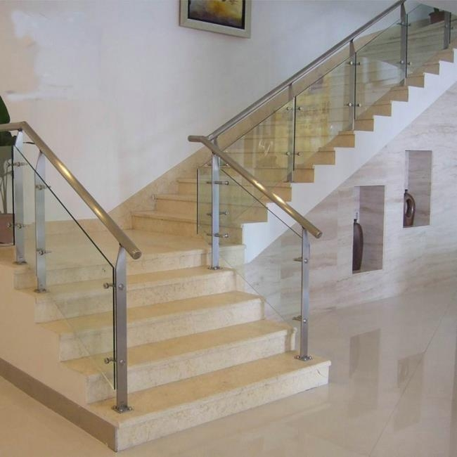 China Tempered Glass Stair Railing Suppliers Manufacturers | Tempered Glass Stair Railing | Made Glass | Wood | Step | Indoor | Glass Design